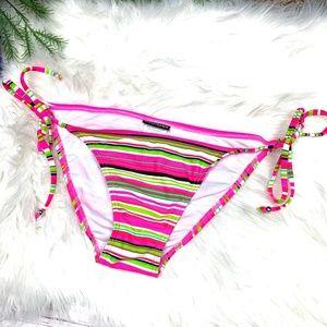 |•INGEAR•| Pretty Tie Side Stripe Bikini Bottom